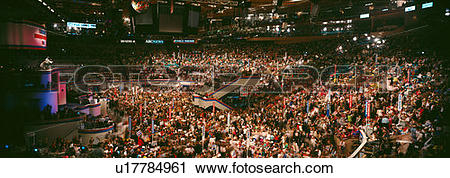 Stock Photography of Democratic Convention at Madison Square.