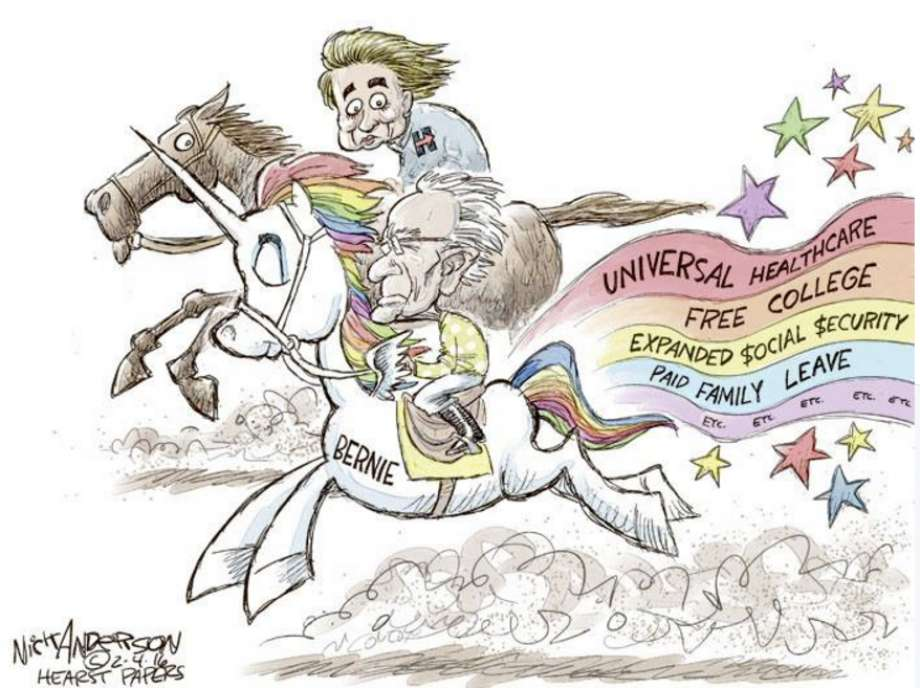 Political cartoons that show the long road to the Democratic.