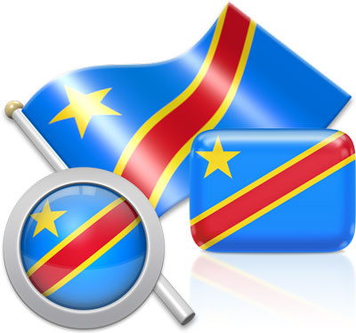 Flag of Congo Democratic Republic of the.