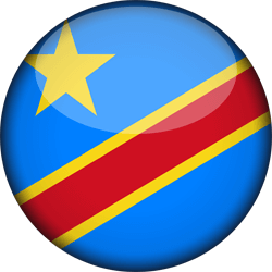 The Democratic Republic of the Congo flag clipart.