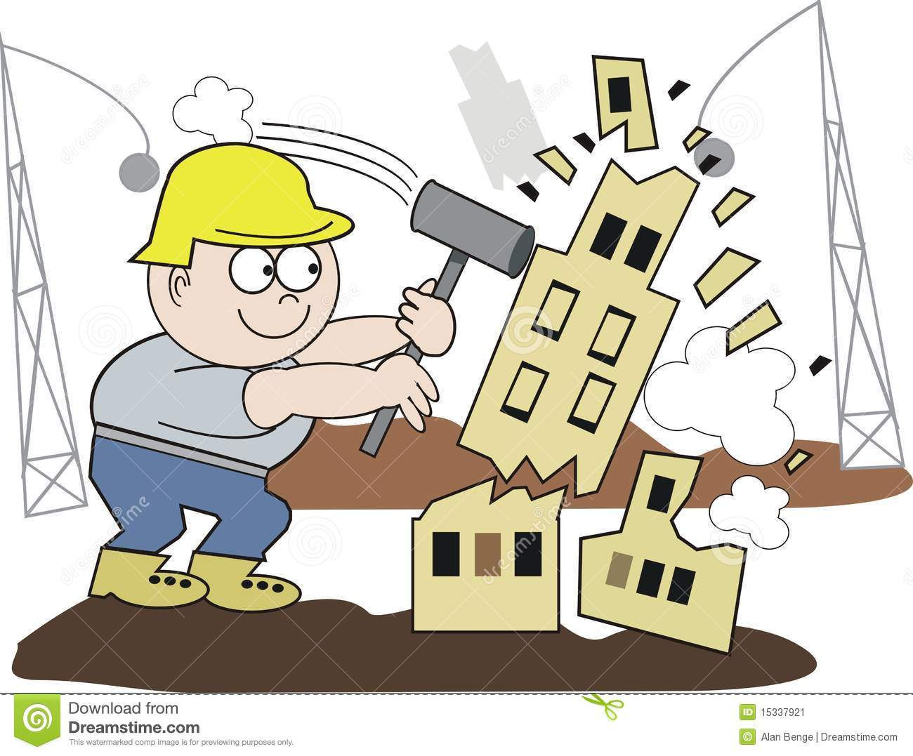 Demolition Stock Illustrations.