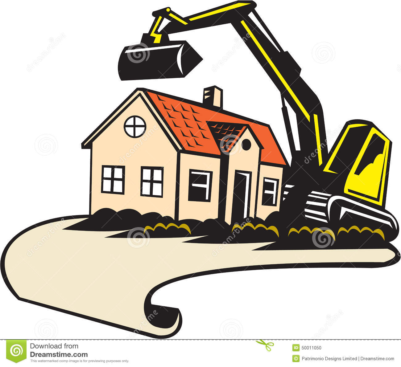 House tear down clipart.
