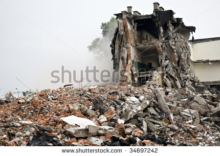 Demolished Building Stock Photos, Royalty.
