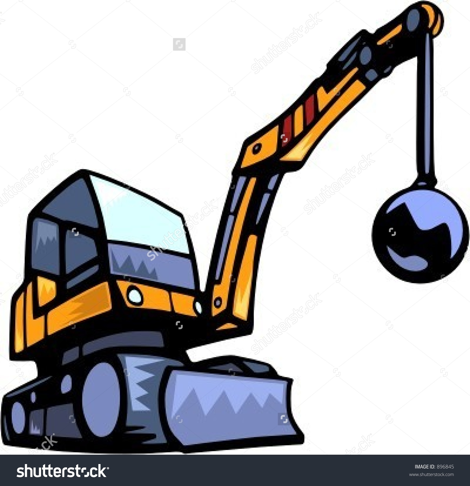 Demolition Vehiclevector Illustration Stock Vector 896845.