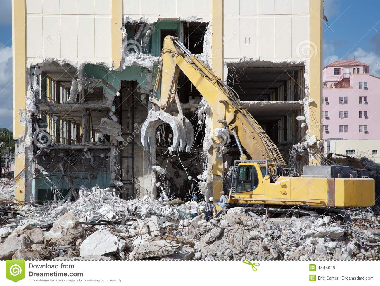 Building Demolition Royalty Free Stock Photos.
