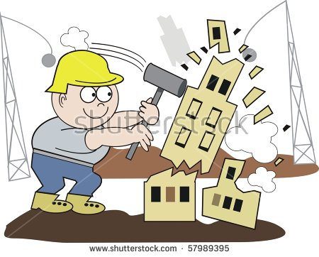 Building Demolition Stock Photos, Royalty.