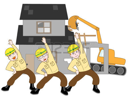 Demolished house clipart.