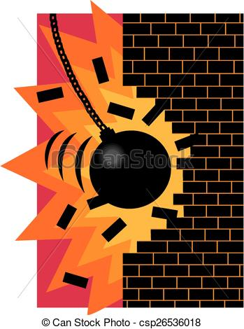 Vector Clip Art of Demolition ball.