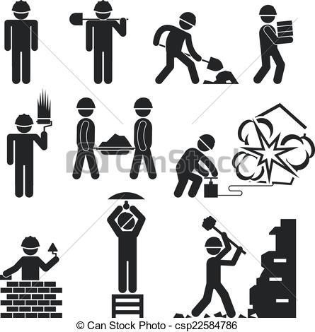 Demolition clipart icon.