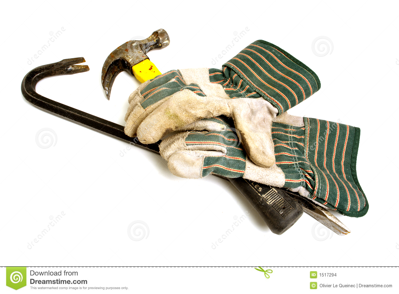 Demolition Tools Stock Photo.