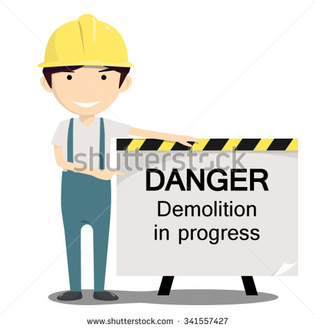 Demolition Works Stock Photos, Royalty.