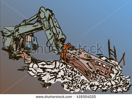 Demolition Work Stock Vector Illustration 416504020 : Shutterstock.