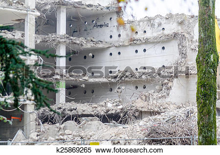 Stock Image of Demolition work k25869265.
