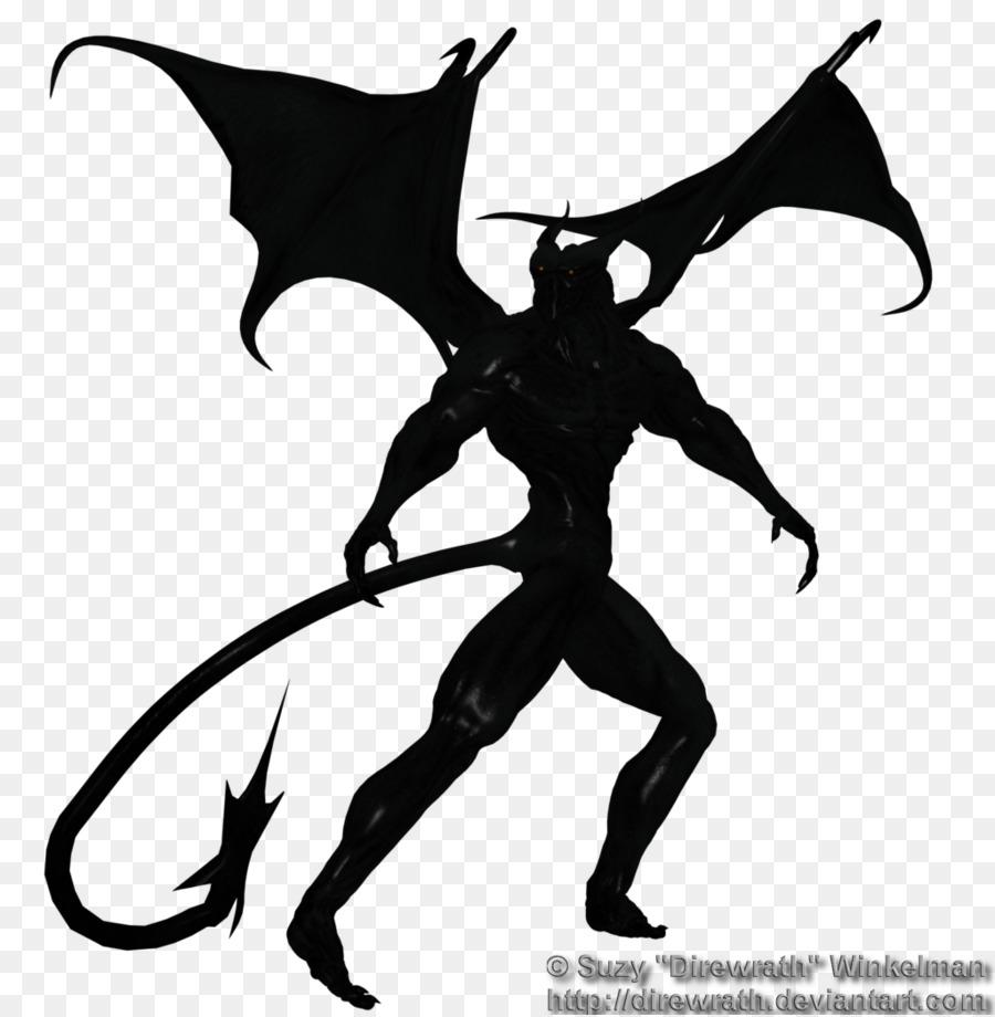 Demon Silhouette Clip Art.