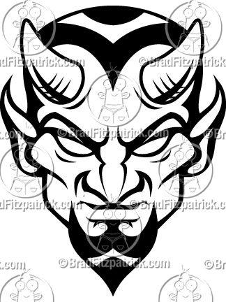Blue Devils Mascot Logo.