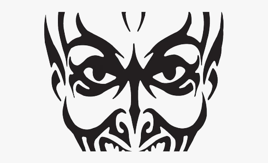 Drawn Joker Devil Face.