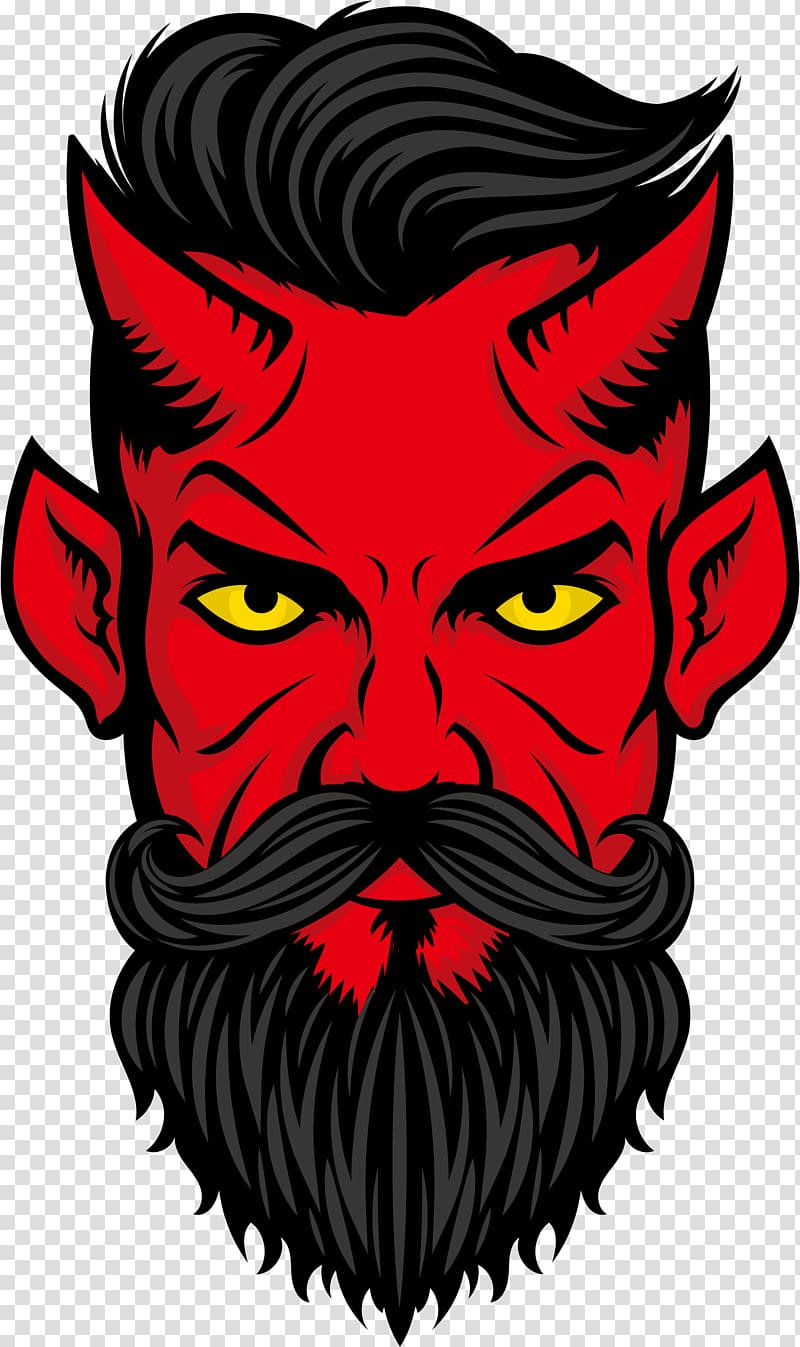 Demon face , Devil Euclidean , devil transparent background.