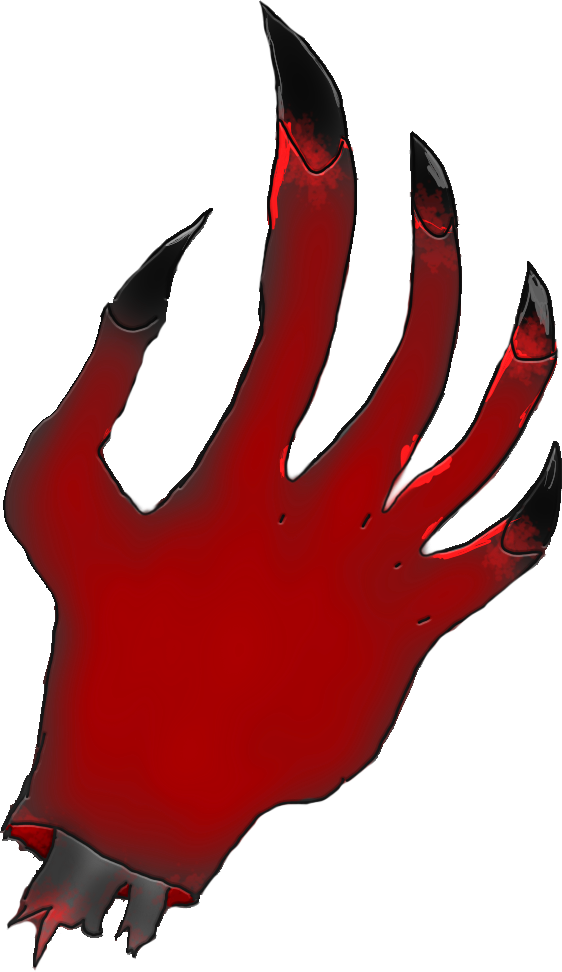 Demon Hand Png Clip Freeuse.