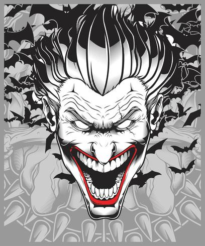 lucifer,evil,demon,joker hand drawing vector.