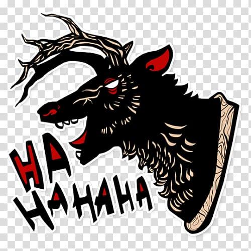 Horse Demon Logo Font, horse transparent background PNG.