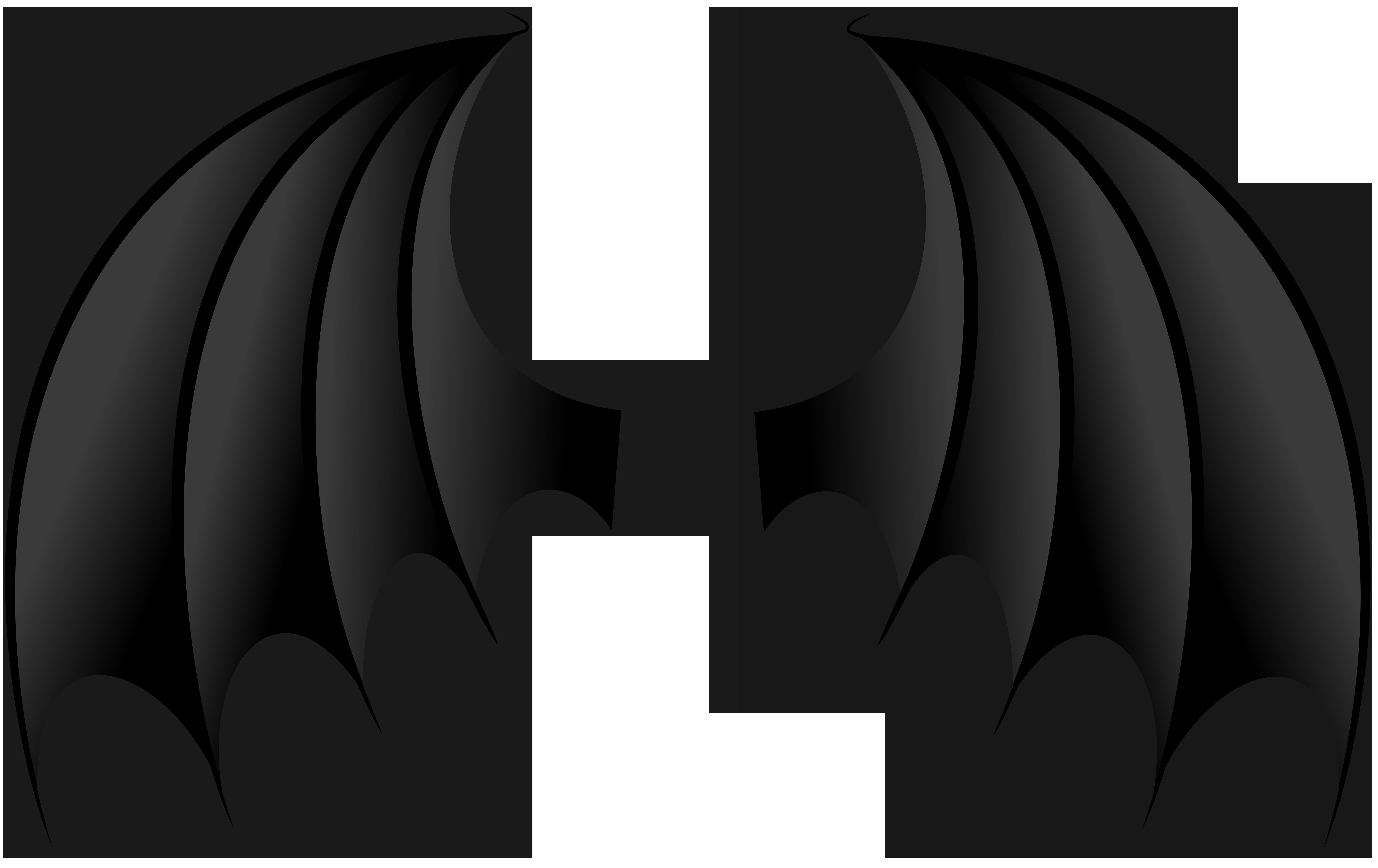 Demon Wings PNG Clip Art Image.