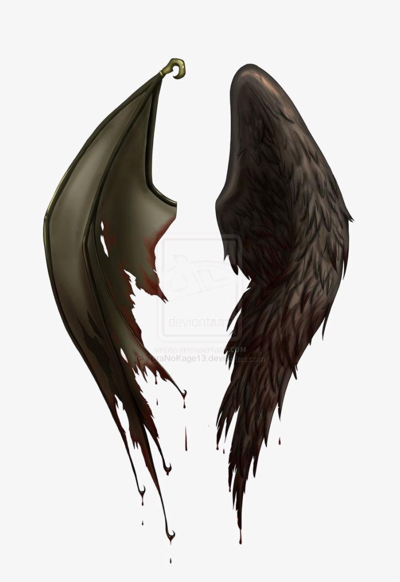 Half Wings Png File.