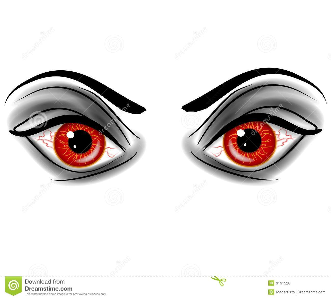 Demon eyes clipart.