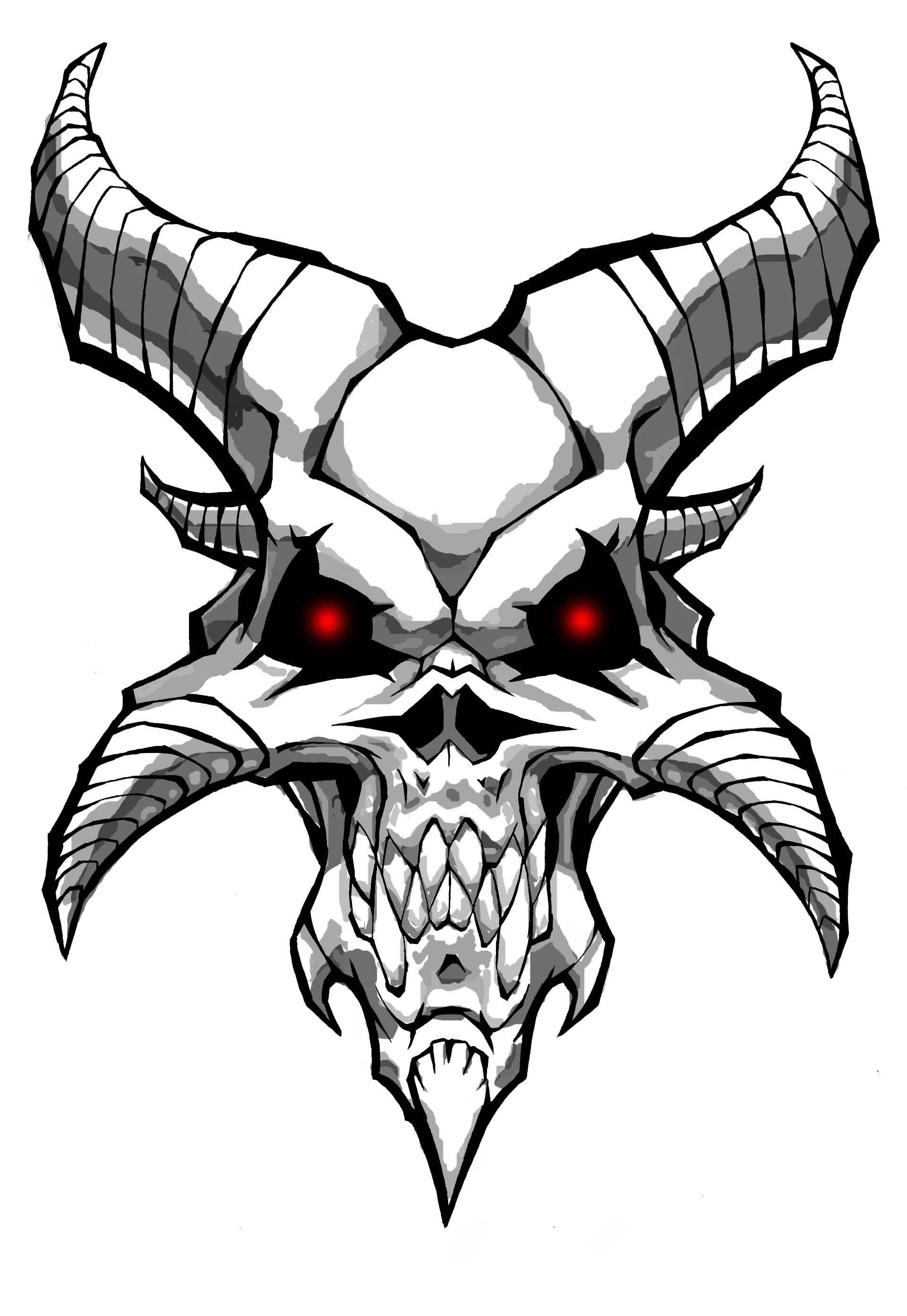 Satanic Goat Clip Art.
