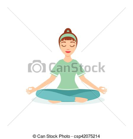 Vector Clip Art of Lotus PAdmasana Yoga Pose Demonstrated By The.