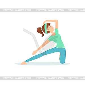 Lunge Yoga Pose Demonstrated By Girl.