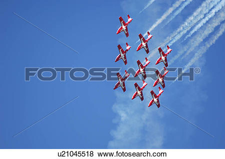 Pictures of The Snowbirds Demonstration Team (431 Squadron), Comox.