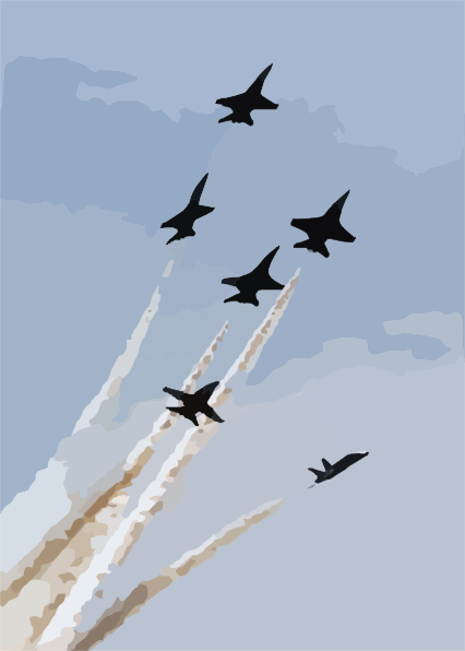 The U.s. Navy Blue Angels Flight Demonstration Team Performs.