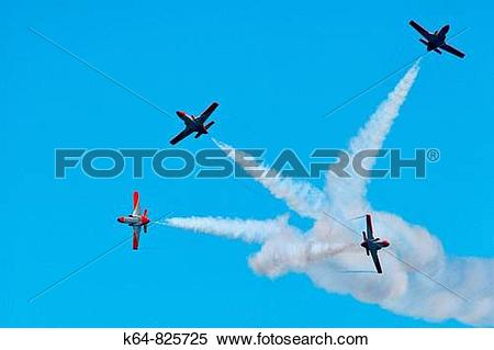 Stock Image of Patrulla Aguila, Spanish Air Force aerobatic.