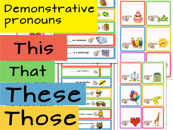 Demonstrative pronouns clipart 8 » Clipart Station.
