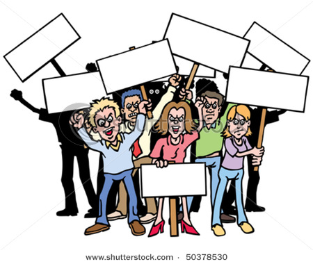 protest clipart #k14163767.