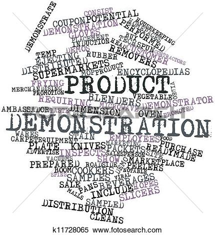 Stock Illustration of Product demonstration k11728065.