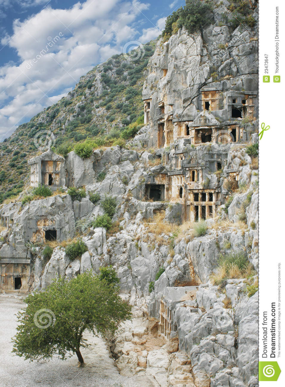 Ancient Town Demre In Turkey Royalty Free Stock Photography.