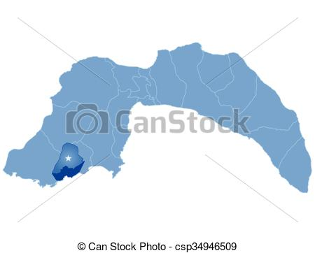 Vector Clipart of Map of Antalya.