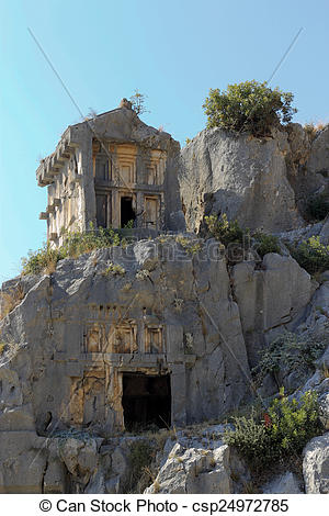 Pictures of Ancient Dead Town In Myra Demre Turkey csp24972785.