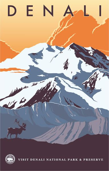 Denali national park clipart.