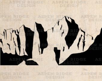 Mt. Denali Mt. McKinley Graphic Clip Art by theaspenridge on Etsy.