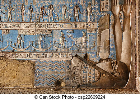 Stock Photo of Dendera Temple Egypt.