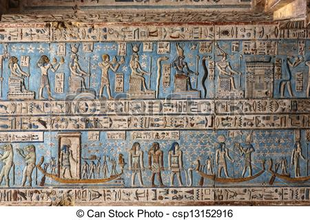 Stock Photography of Ceiling Hypostyle Hall Dendera.