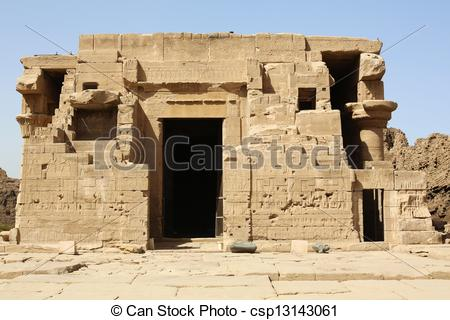 Stock Image of Mammisi Dendera Temple Egypt.