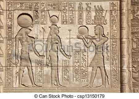 Picture of Relief Mammisi Dendera Temple.