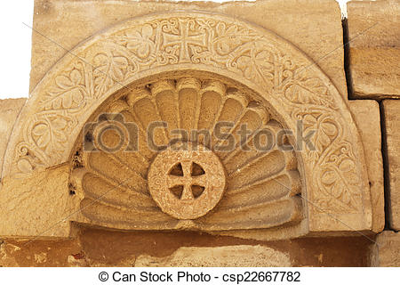 Pictures of Coptic Relief Dendera Temple.