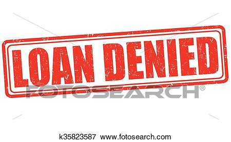 Loan denied stamp Clip Art.