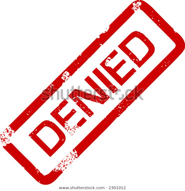 Denied Stamp Stock Vector (Royalty Free) 2301012.