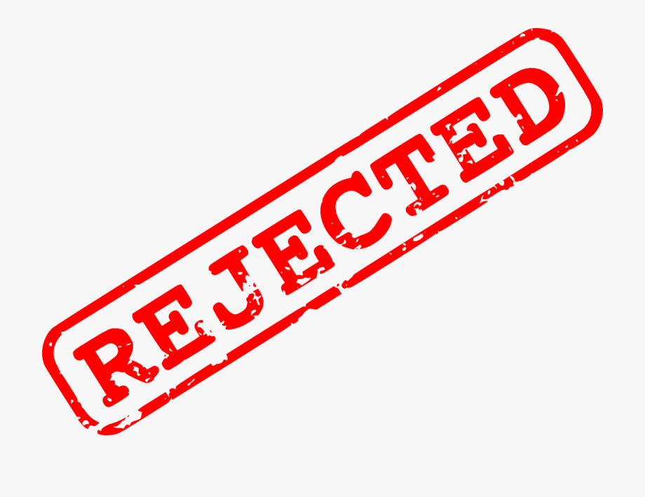 Denied Stamp Clipart Hand Png.