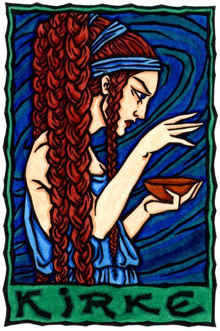 Kirke, Greek Enchantress and Goddess of Transformation:I.